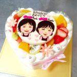 双子ちゃんのケーキ