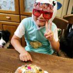 生チョコケーキで9才のお誕生日会