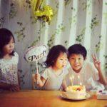 ハート型ケーキで4歳のお誕生日♡