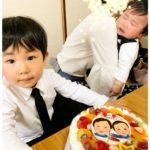 赤ちゃんは眠たくてご機嫌ななめだった様です(^-^) 泣いてても可愛いですね❤️ 3才のおたんじょうび&初節句 おめでとうございました♪