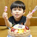 3才のおたんじょうびを 生チョコ&キャラクターケーキで お祝いいただきました(^-^)/ 喜んでいただけたご様子で嬉しいです♪ これからも益々お元気でご成長されますよ~に❤️