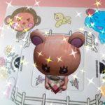 飛び出すクマさん♪ぬりえケーキ箱の遊び方^^