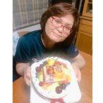 お母様の誕生日❤写真ケーキ^_^
