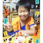 悟空のケーキで11歳のお祝い❤