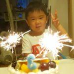3才のお誕生日を写真ケーキでお祝いいただきました❤