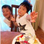 ウルトラマンのケーキで5才のお誕生日❤