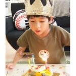 リュウソウジャーのフルーツタルトで5才のお誕生日のお祝いをしていただきました☆