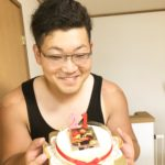 写真ケーキでパパのお誕生日❤