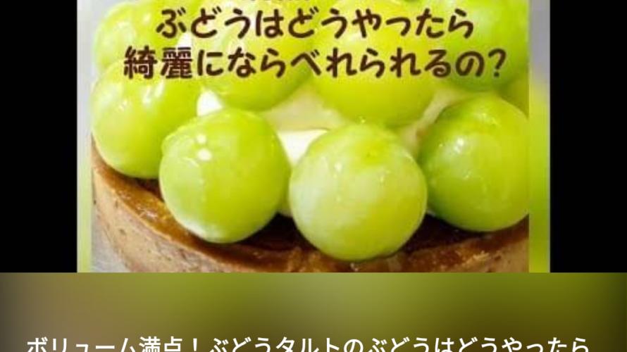 ぶとうを綺麗に並べる方法^_^