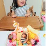 2才のお誕生日にキャンデコをご利用いただきました❤