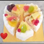 ハート型ケーキを上手に切る方法^_^