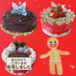 クリスマス苺のデコレーションケーキ完売しました^_^