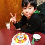 ドラえもんケーキで8歳のお祝い♥