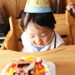 写真ケーキで1才のお祝い❤