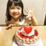 5才のお誕生日にキャラクターケーキをご利用いただきました❤