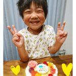 ハート型ケーキで5歳のおたんじょうび❤