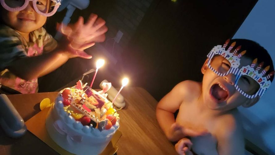 写真ケーキで2歳のお誕生日❤