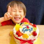 ガブリアスのケーキで5才のお誕生日^_^