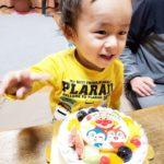 キャラクターケーキで3歳のお誕生日❤