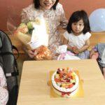 お孫さんとお誕生日❤