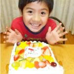 8歳のお誕生日ケーキ❤