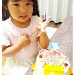 キャラクターケーキで4歳のおたんじょうび❤